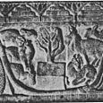 ANIMALS PAY HOMAGE TO BUDDHA,2ND CENTURY SANDSTONE RELIEF, BHARHUT, INDIA