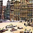 THE GRAND PLACE-MARKET SQUARE OF BRUSSELS.