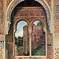 THE ALCOVE OF THE CAPTIVE'S TOWER IN THE ALHAMBRA.
