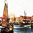 THE HARBOR OF URK.