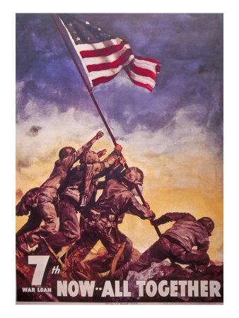 Everett-johnson-flag-raising-over-iwo-jima