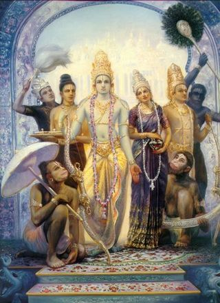 Sita-Rama-Laksman-Hanuman