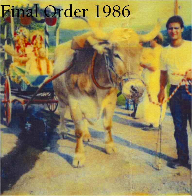 Final order 1986