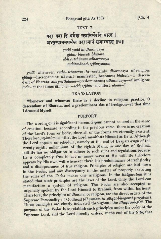 Bhagavad-gita As It Is 224