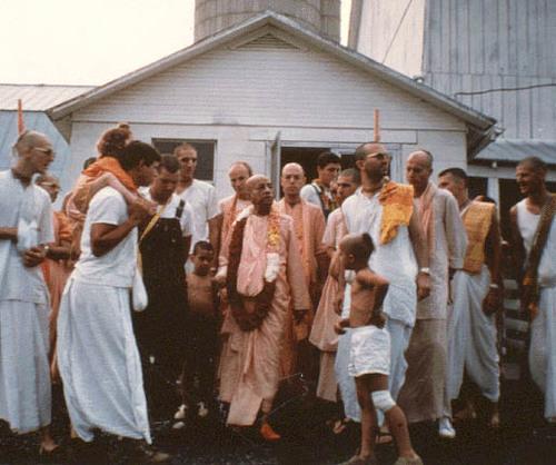 Srila Prabhupada at Gita Nagari 1976