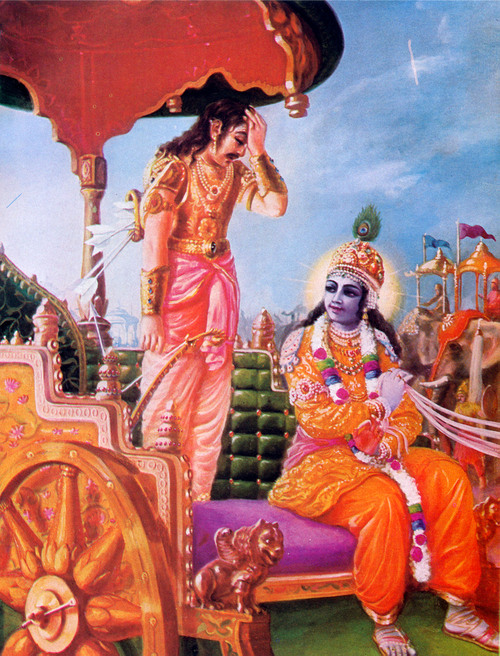 ARJUNA BECOMES OVERWHELMED WITH COMPASSION