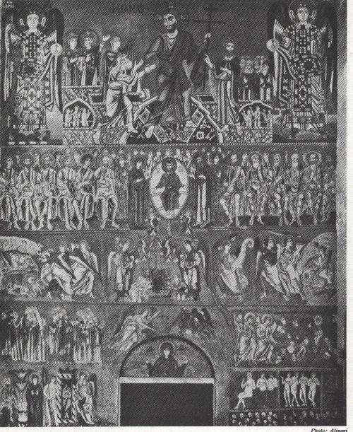 THE LAST JUDGEMENT,12TH CENTURY MOSAIC