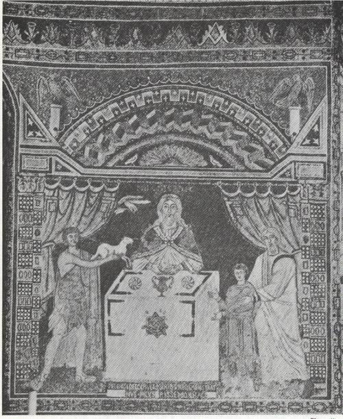 CELEBRATION OF THE EUCHARIST,6TH CENTURY MOSAIC