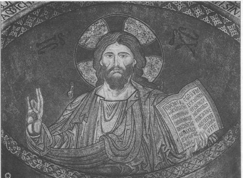 THE RISEN CHRIST,12TH CENYURY MOSAIC