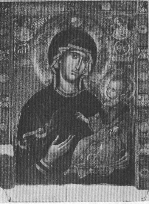 THE VIRGIN AND CHILD, 14TH CENTURY IKON