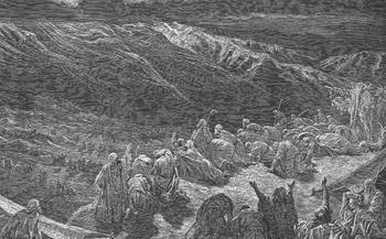 THE GIVING OF THE LAW UPON MOUNT SINAI