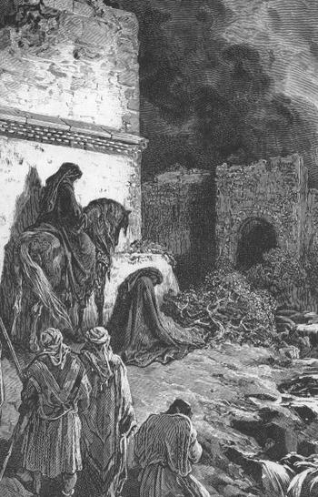 NEHEMIAH VEIWING THE RUINS OF JERUSALEM