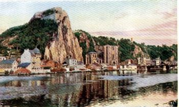 THE TOWN OF DINAT ON THE RIVER MEUSE.