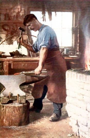 THE VILLAGE BLACKSMITH.