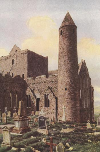 THE CATHEDRAL ON THE ROCK OF CASHEL IN TIPPERARY