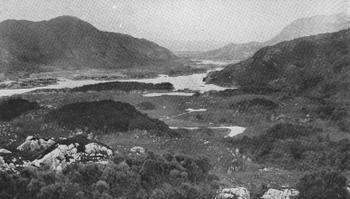 THE MOUNTAINS AND LAKES OF KILLARNEY.