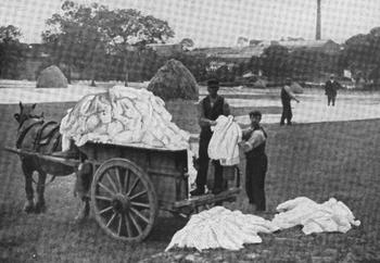 SHEETS OF LINEN NEAR BELFAST.