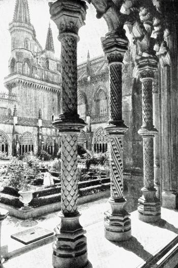 CLOISTERS OF THE MONASTARY AT BATALHA.