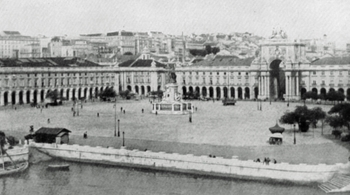 A RIVERSIDE SQUARE IN LISBON.