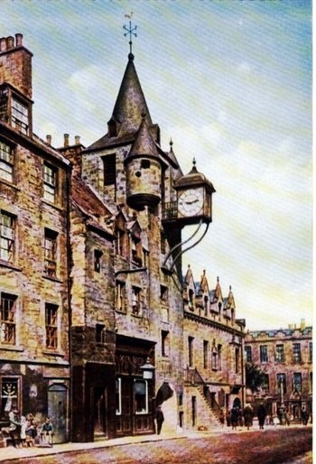 THE TOLLBOOTH IN EDINBURGH.